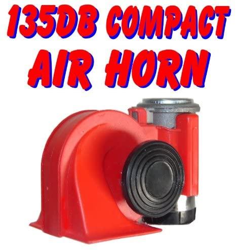 Assured Performance-Horns Nautilus 139db Compact Dual Tone Air Horn Just Plug-n-Blow GR8 for Motorcycle ATV UTV golfcart