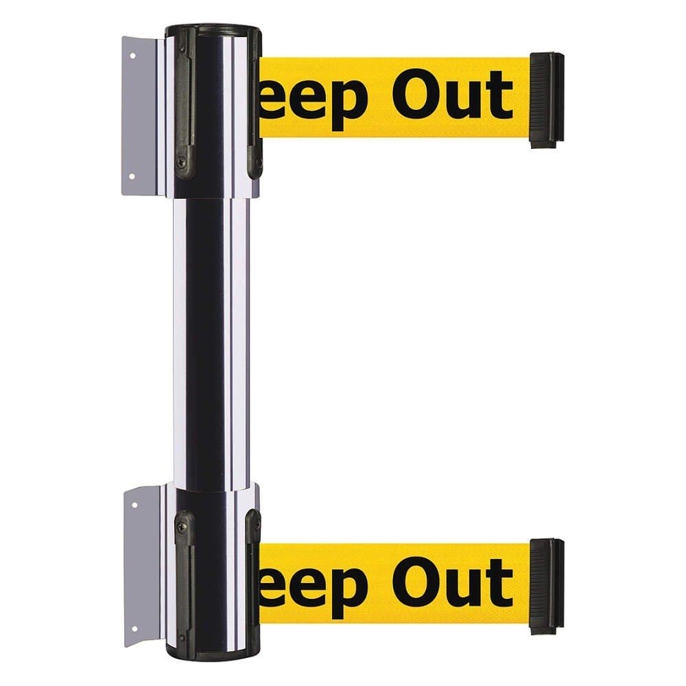 Tensator - 896T2-1P-STD-YDX-C - Belt Barrier, Danger-Keep Out, Chrome
