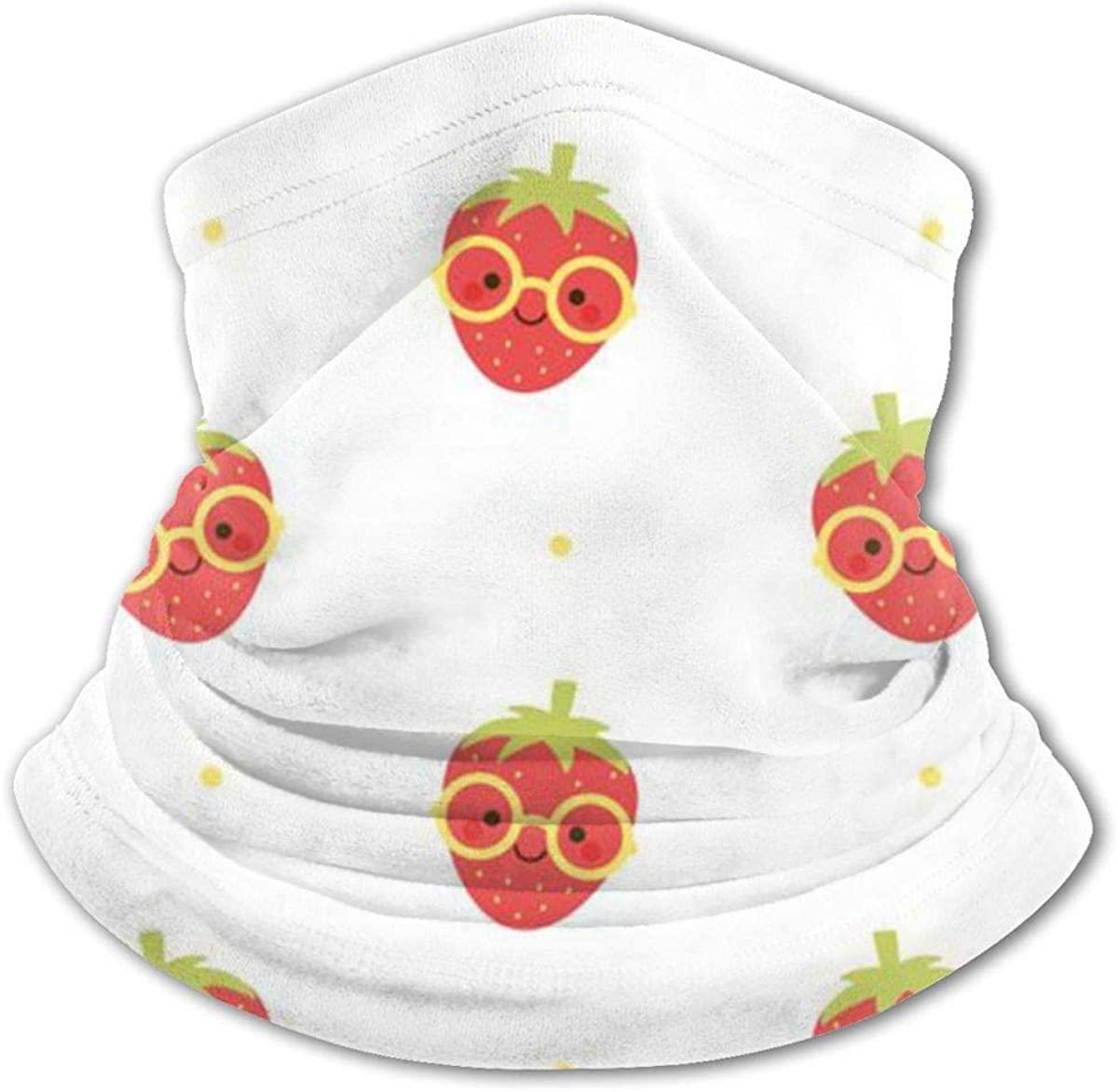 Strawberry Wear Sunglasses Headwear For Girls And Boys, Head Wrap, Neck Gaiter, Headband, Tenn Fishing Mask, Magic Scarf, Tube Mask, Face Bandana Mask For Camping Running Cycling
