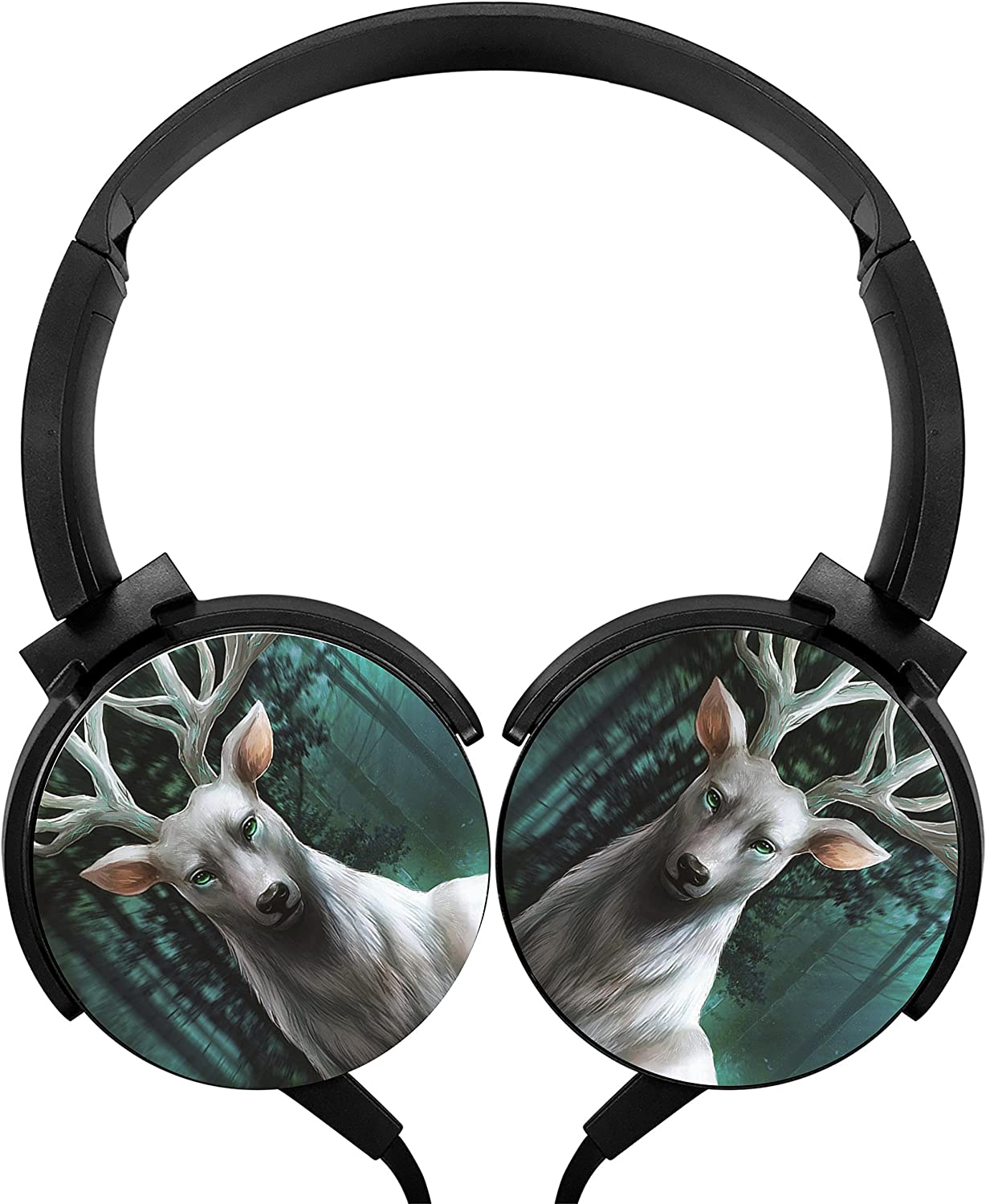 Forest God Deer Stereo Overear Heavy Bass Portable Wire Microphone mp3 Tablet PC Video Game Phone
