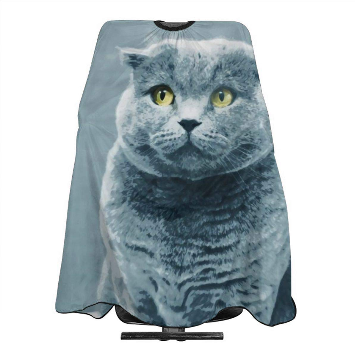 Professional Barber Cape Salon Hair Styling Cutting Haircut Aprons GREY CAT Capes For Proof Hairdresser Coloring Perming Shampoo Chemical 55