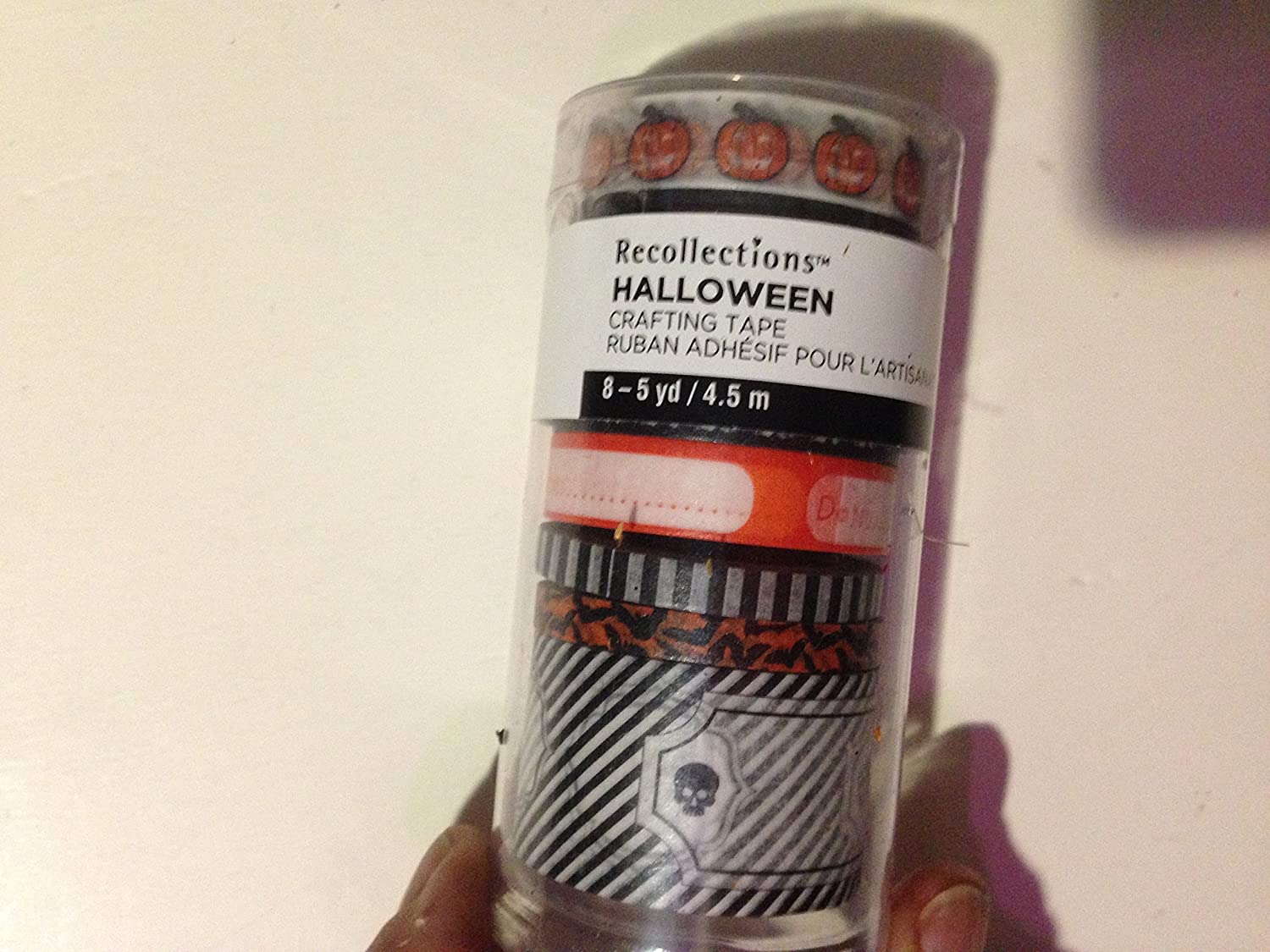 Halloween Assorted Sizes and Designs Crafting Tape Total 8 5 Yard Items in Tube. 2 Tubes per Order MSRP $9.99 Each=$19.98 Value #519689