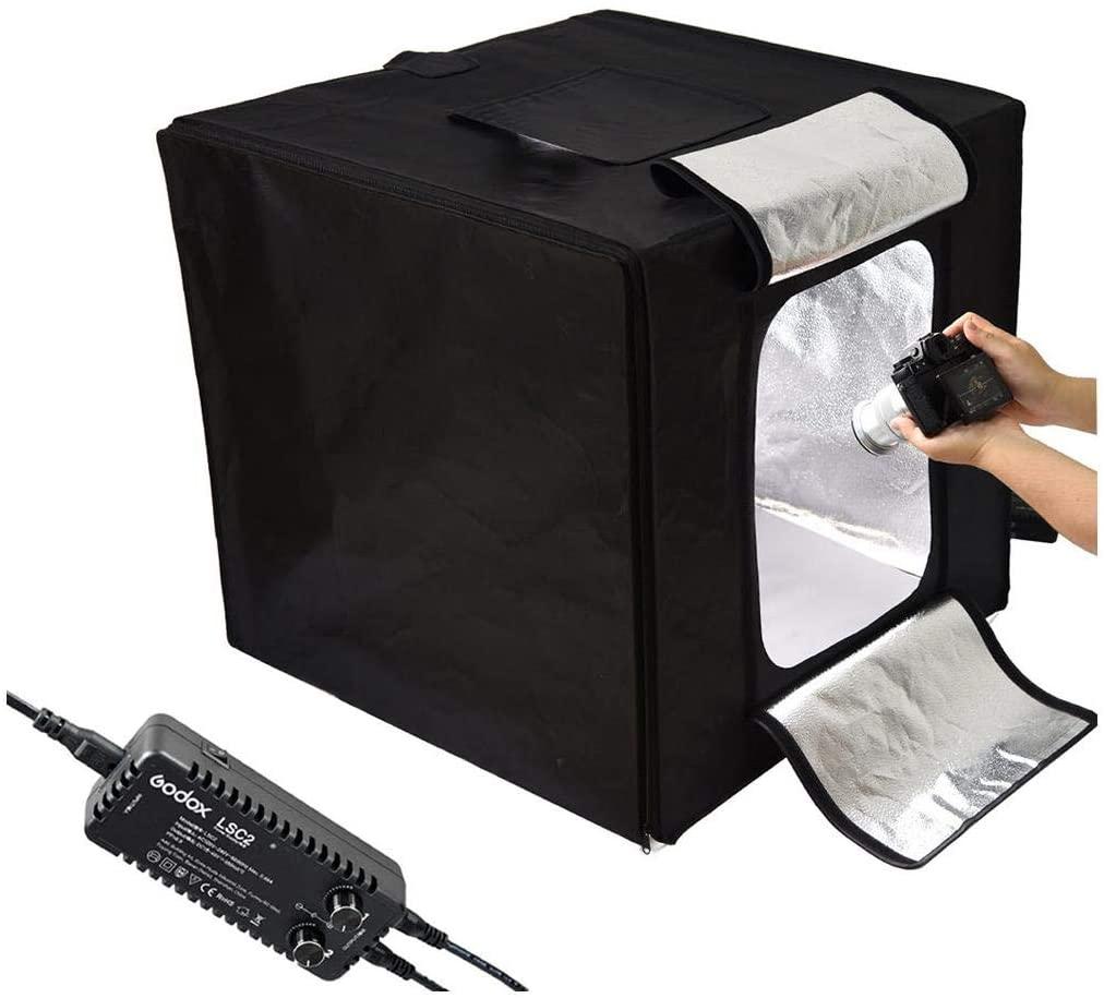 Godox Mini LED Photography Studio Shooting Tent 40x40x40cm LSD40 2PCS LED lamp band Power 40W 10000~11000 Lumen with Carry Bag