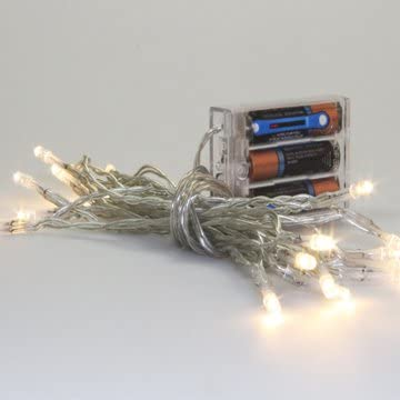 Light Set - 9 ft Northcott Christmas Lights Festive Holiday Stargazer Battery Operated Lights (Batteries not Included) (TWLITES-10) M206.13