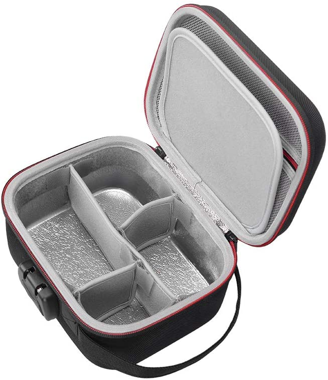 RLSOCO Smell Proof Bag/Smell Proof Case - Fits Grinder/Container & More Accessories Travel with Combo Lock