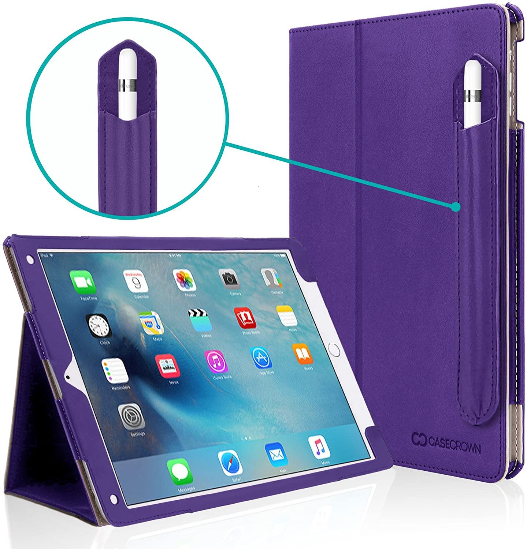 iPad Pro 10.5 Case, CaseCrown Bold Standby Pro Case (Purple) w/Detachable Apple Pencil Holder