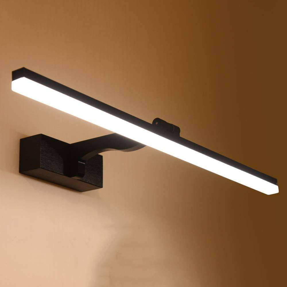 LED Mirror Headlights, Modern Adjustable Wall Lamp Waterproof Bathroom Lamp 10W Makeup Lamp Black Shaving Mirror Lamp (Color : Warm white light, Size : 100cm)