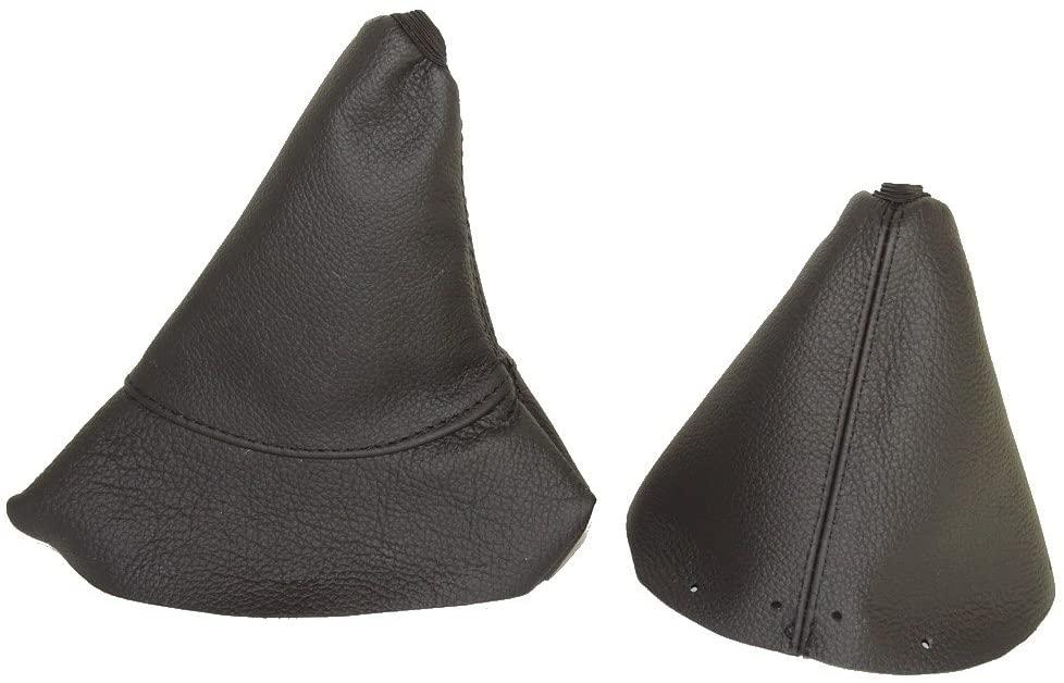The Tuning-Shop Ltd For Peugeot 308 2007-2013 6 Speed Gear & Handbrake Gaiter Black Leather