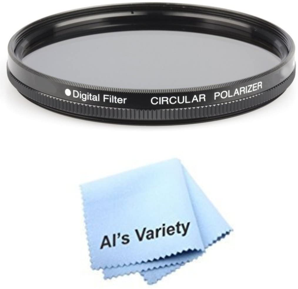 72mm Circular Polarizer Multicoated Glass Filter (CPL) for Sony Alpha DSLR-SLT-A33 + Microfiber Cleaning Cloth