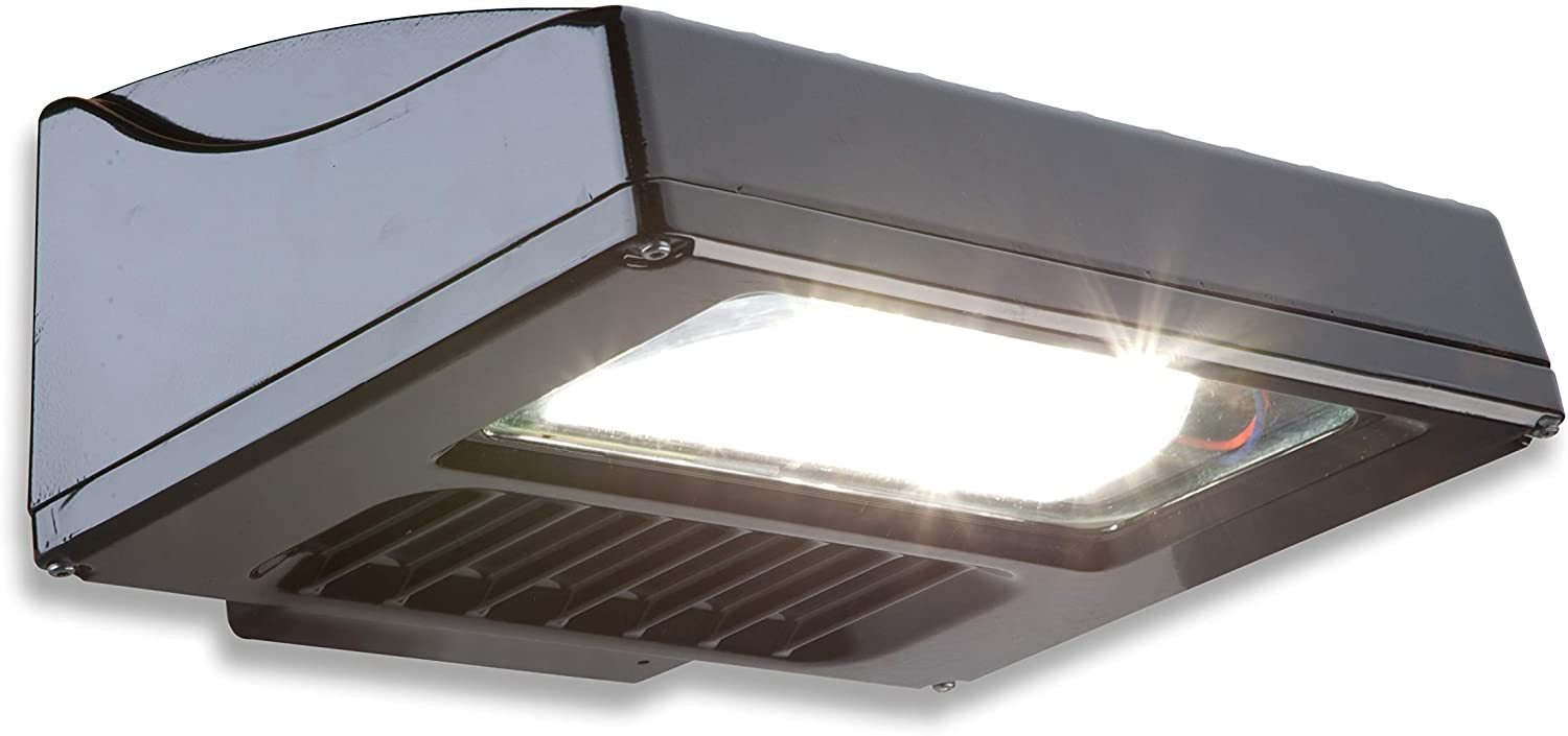 Current, powered by GE EWS30C7D1501DKBZ Scalable Wall Pack (EWS3) Evolve LED Area Light, Bronze