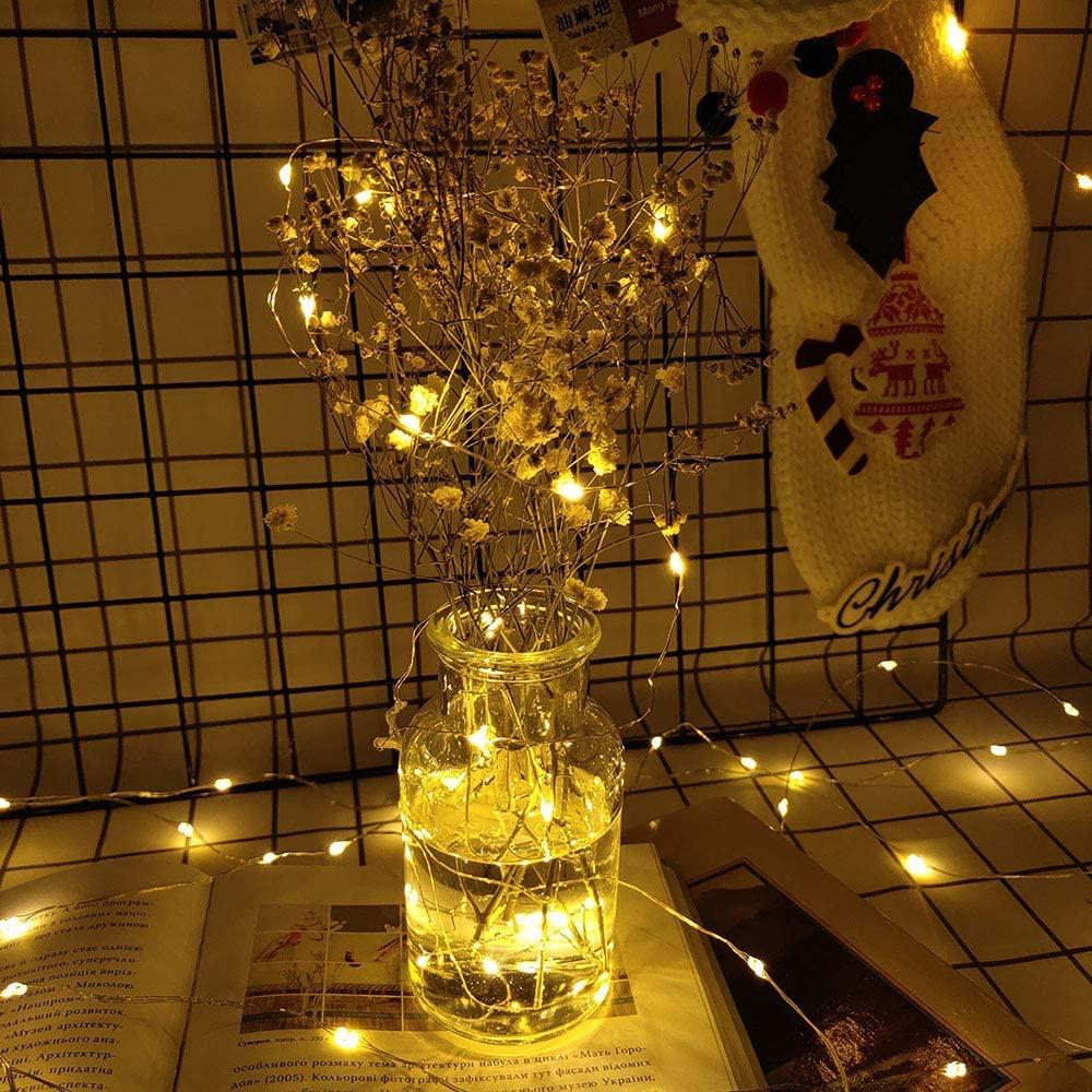Ever Smart Led String Lights, Led String Wireless Remote Control Waterproof Battery String Lights 120 LED 39 Ft, Warm White led Light String