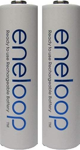 Panasonic 2 Pack Newest Version Eneloop 4th Generation AA NiMH Pre-Charged 2100 Times Rechargeable Batteries