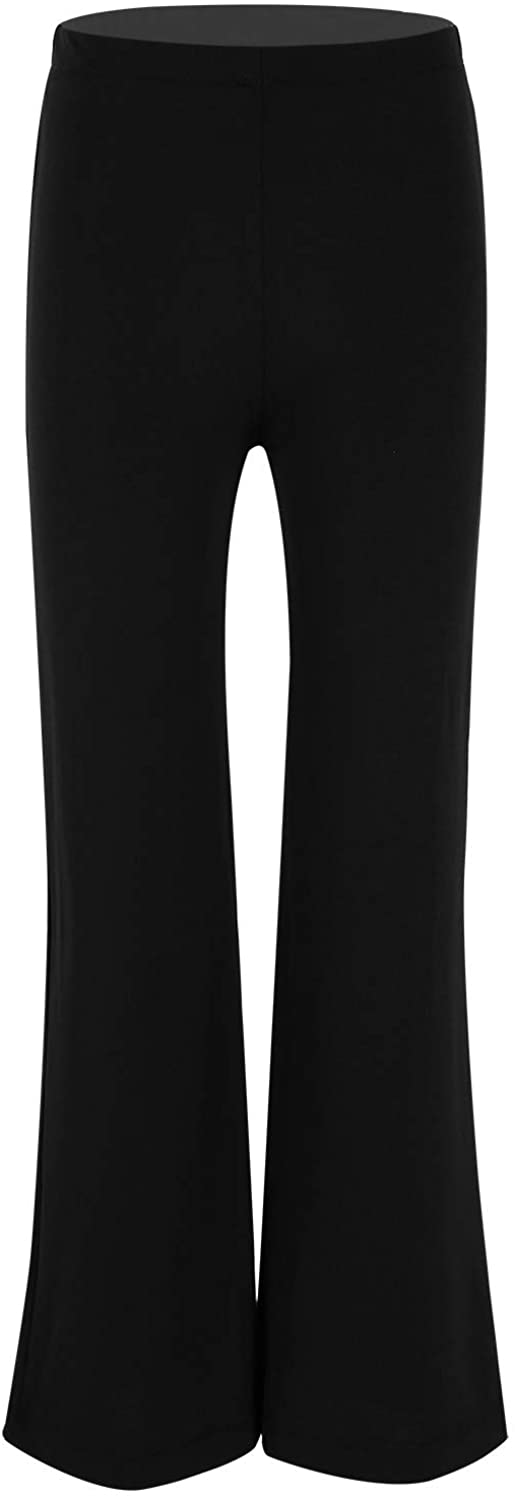 easyforever Kids Boys/Girls Jazz Dance Stage Performance Stretchy Boot Cut Pants Trousers Basic Classic Dancewear