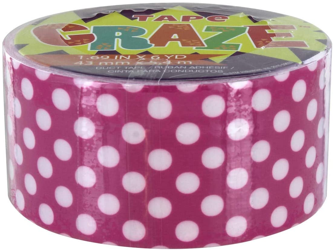 Pink and White Polka Dot Duct Tape