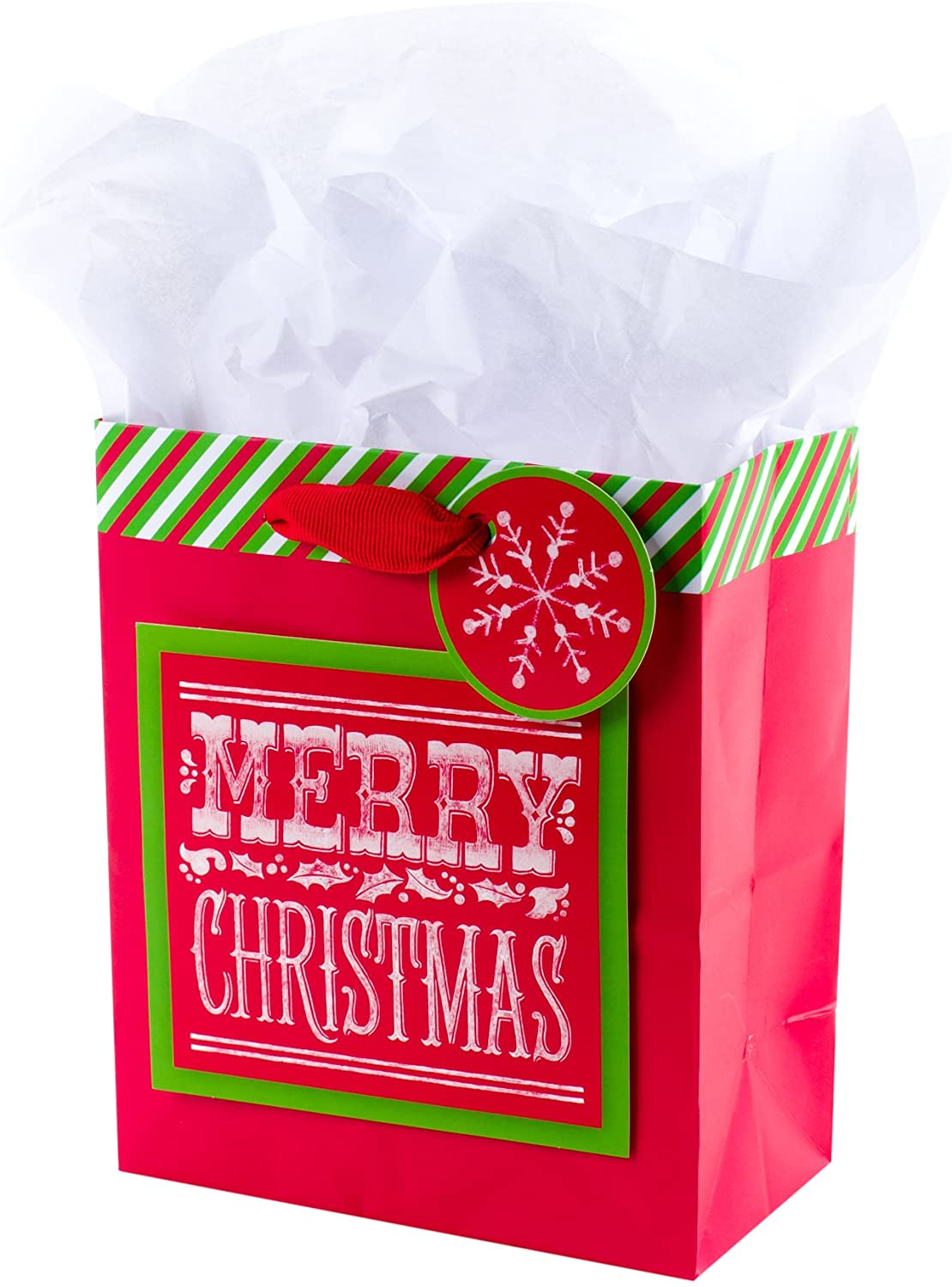 Hallmark Small Christmas Gift Bag with Tissue Paper (Merry Christmas)