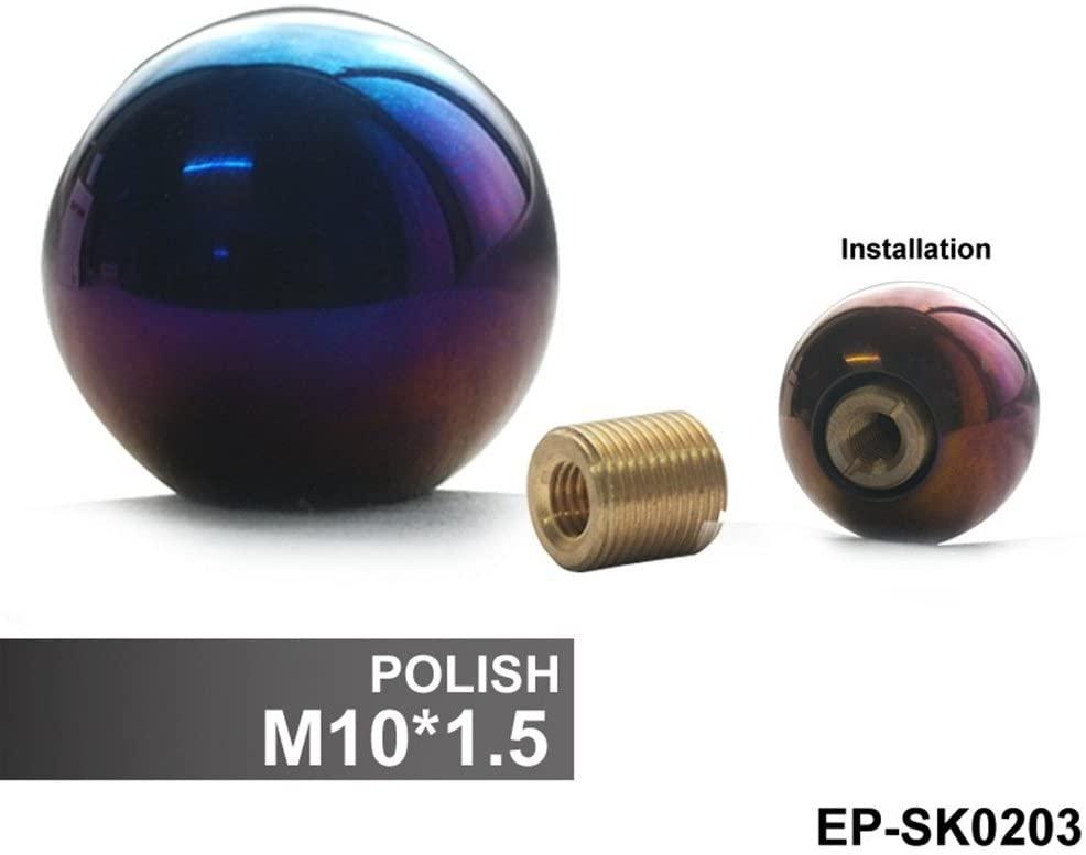 Epman Polish M10 x 1.5 Universal Spherical 5 Speed Manual Car Auto CNC Titanium Shifter Gear Stick Shift Knob
