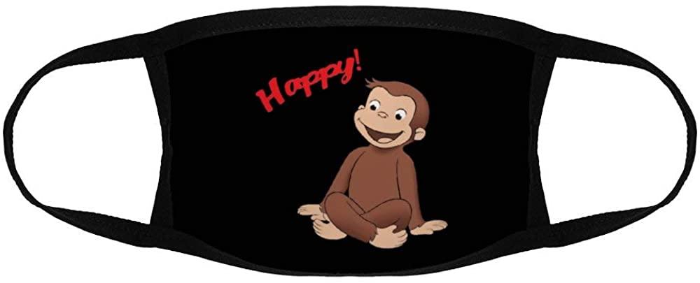 Donaldjchisholm Children Masks Bandana Balaclava Scarf Cap Curious George Happy Kids Reusable Face Mask