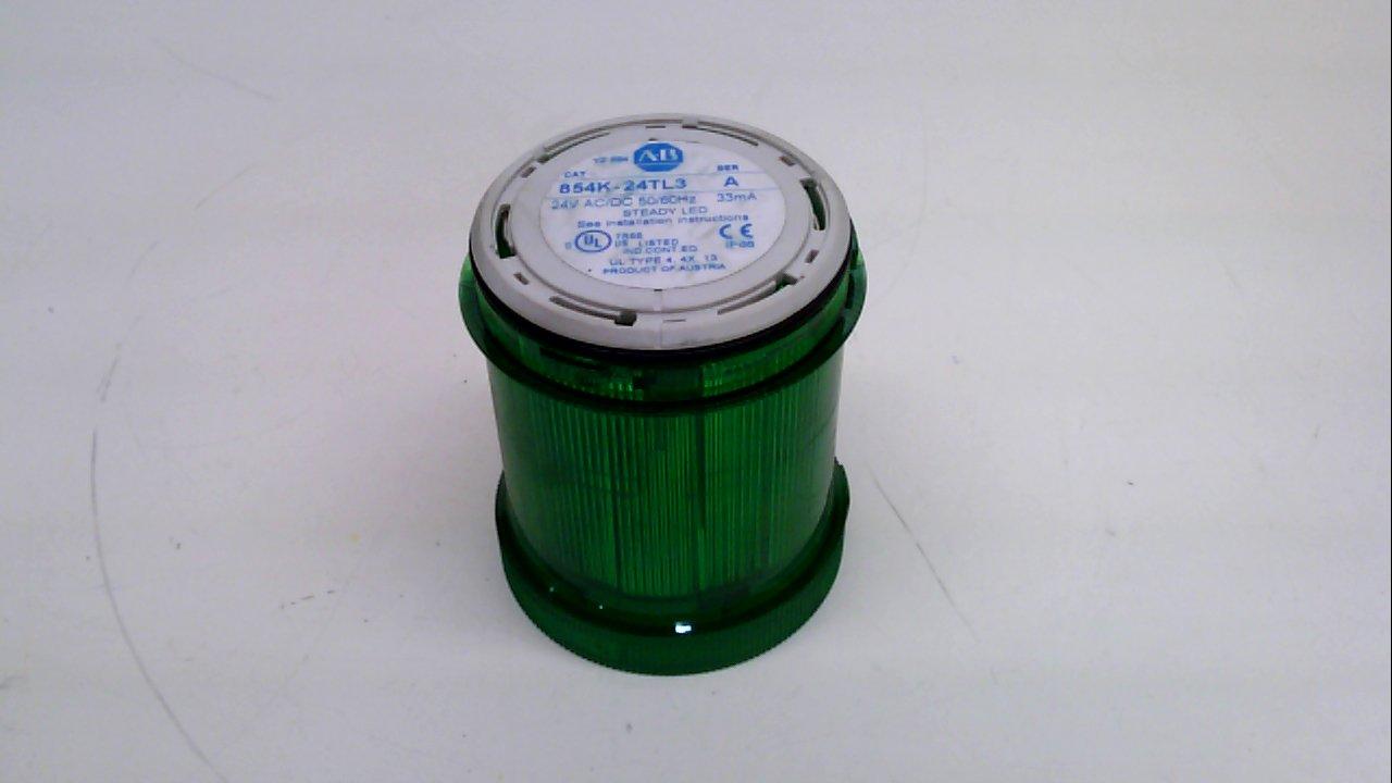 Allen Bradley 854K-24Tl3, Series A, Steady Led Stack Light, Green, 24V 854K-24Tl3 Series A