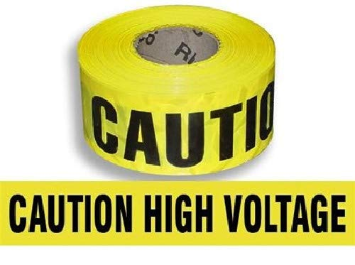 Harris Industries, Inc. BT-12-1000-4mil 3in x 1000ft Caution High Voltage Barricade Tape