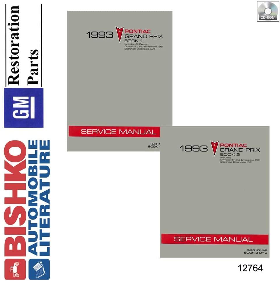 bishko automotive literature 1993 Pontiac Grand Prix Shop Service Repair Manual CD