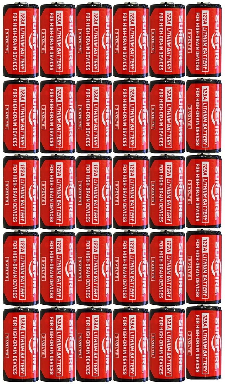 5 X Surefire 6 Pack 123A Lithium Batteries