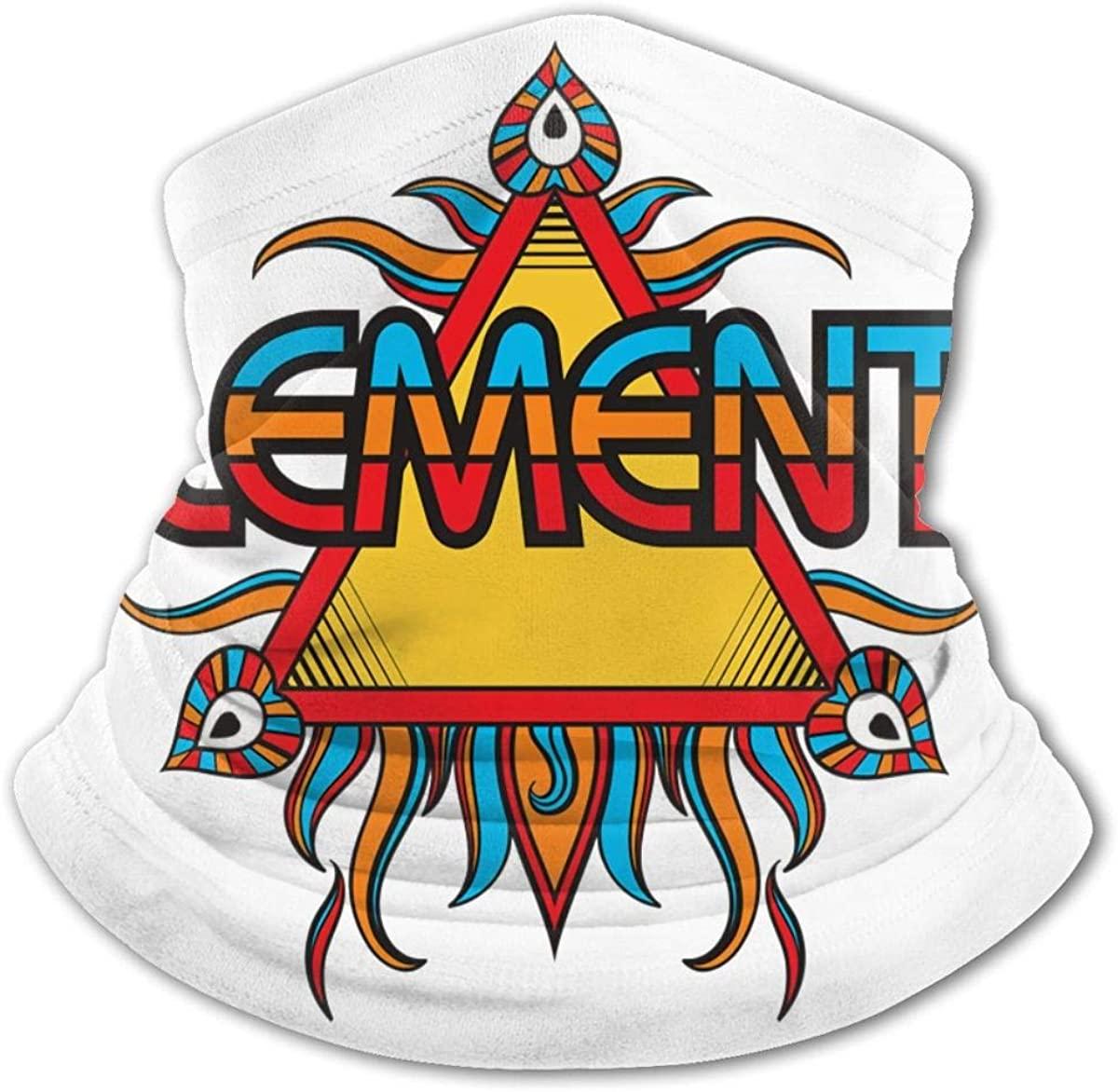 Earth Wind & Fire Face Mask Bandanas,Neck Gaiter,Headwear,Magic Scarf,Headband for Dust Sun Wind,Reusable Bandana Face Cover Black