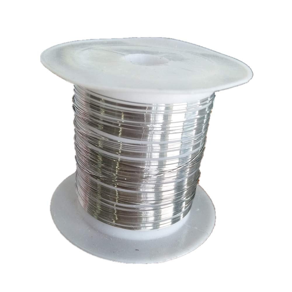 Cr20Ni80 Nickel Chromium Heating Wire 0.25mm 32.8ft 22.21Ω/m Nichrome Resistance Wire Electric Heating Element for Sealing Machine Cutting Machine