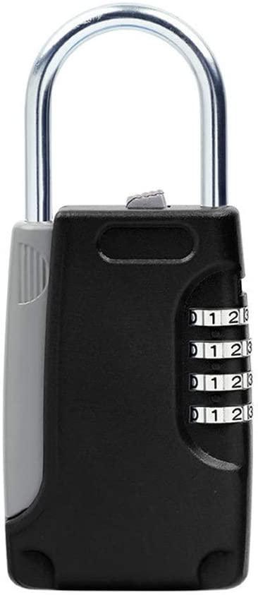 minansostey Hidden Key Safe Box Password Combination Lock Key Holder Mini Metal Secret Box for Home Villa Office