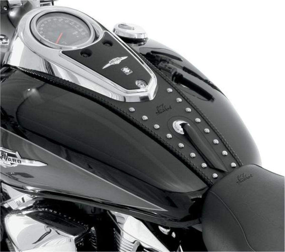 Mustang Motorcycle Seats Studded Tank Bib for Yamaha 1999-2012 Road Star models - One Size