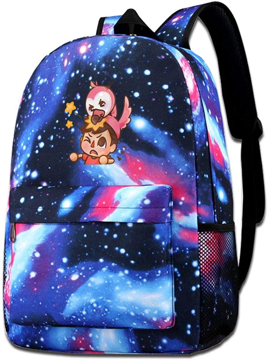 351 Star Sky School Backpack Alberts-Stuff Flamingo Unisex Galaxy Bookbags for Kids Teens Students Daypack