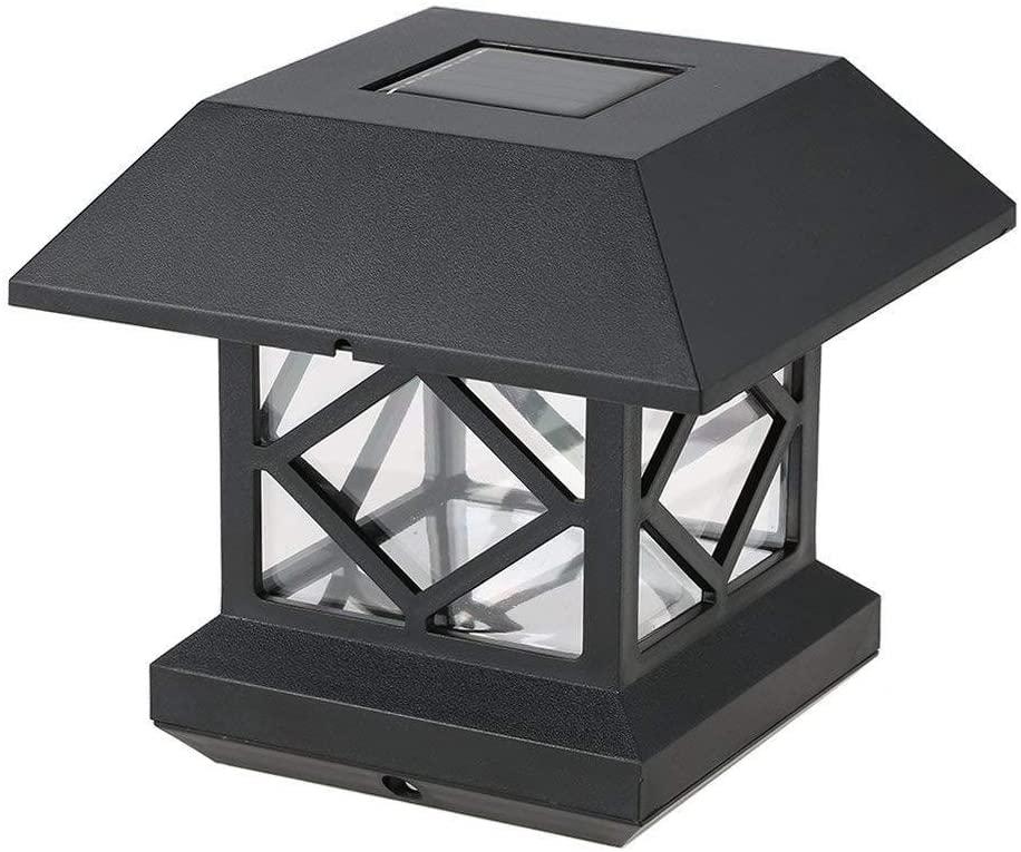 YANLE 1/2 Pcs 1.2V Solar Square Post Lamp, Outdoor Pillar Light, Fence Lamp, Garden Decor Lamp, IP65 Waterproof