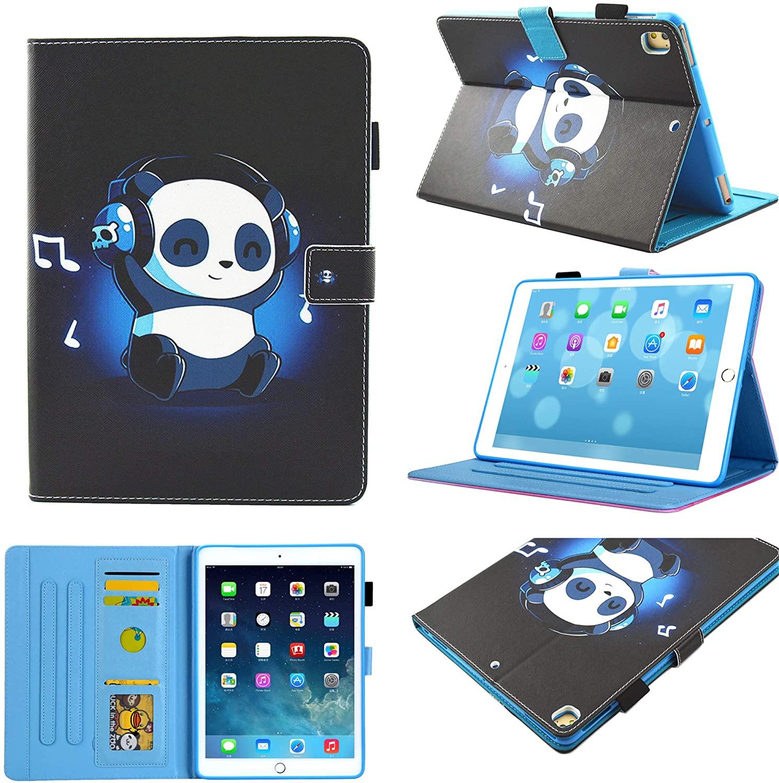 New iPad 10.2 Inch 2019 Case,Chgdss Full Body Protection PU Leather Folio Smart Cove [Auto Wake/Sleep ] Multi-Angle Viewing/Card Slots, for iPad 7th Gen 10.2 Inch 2019 - Music Panda