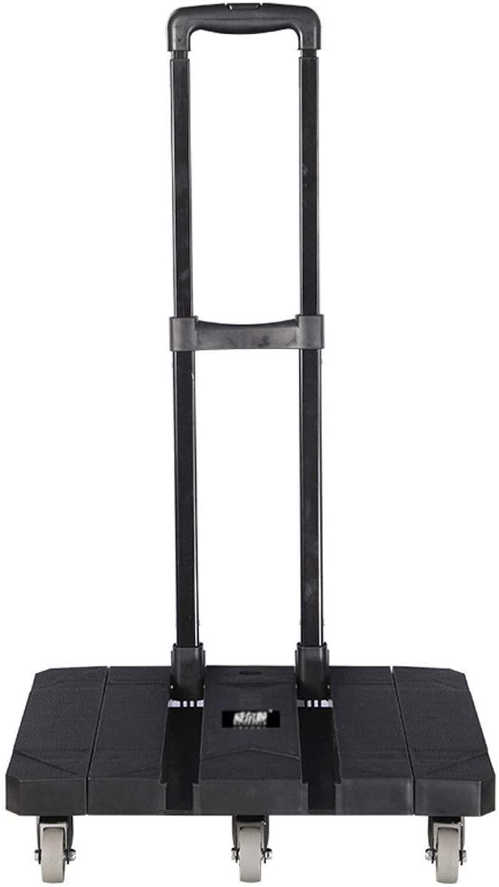 WYF-YF Shopping cart Shopping-GR Handcart Made of Polypropylene, Carrying Capacity 200 kg, Foldable Shopping cart (Color: Black) Foldable Shopping Bags Shopping Cart