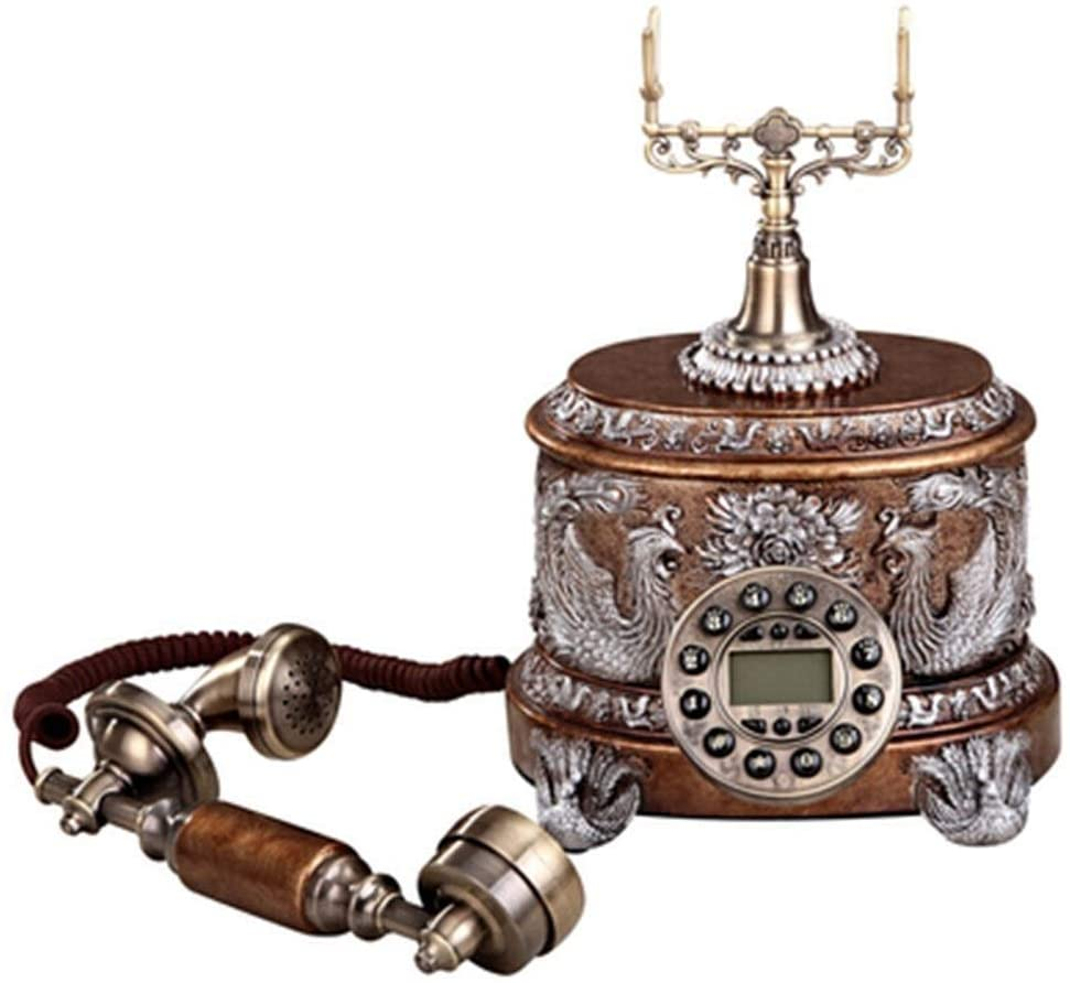 APAN Wired Telephone Retro Caller ID Landline Button Dial Office Decoration Phone Traditional Phone Ringtone