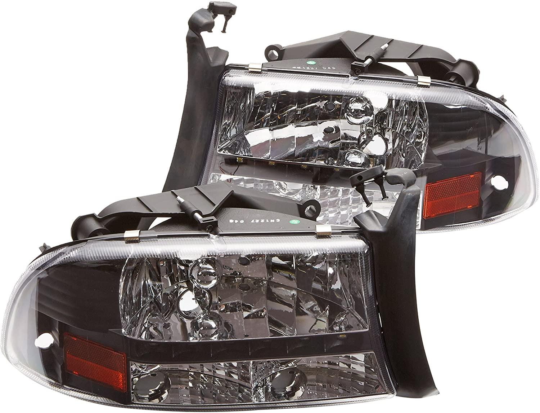 Spec-D Tuning 2LH-DAK97JM-RS Dodge Dakota/Durango Slt Led Headlights Black Left + Right