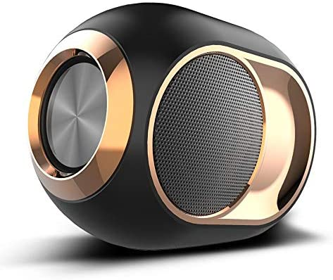 Bluetooth Portable Speaker, Louder Volume, Crystal Clear Stereo Sound, Rich Bass, Microphone