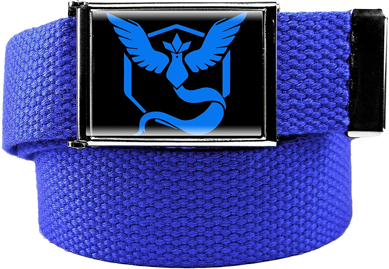 Boy's Team Mystic Flip Top Military Belt Buckle with Canvas Web Belt