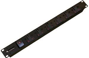 Cables UK 6 Way UK Socket Horizontal PDU with 16 Amp Commando Plug