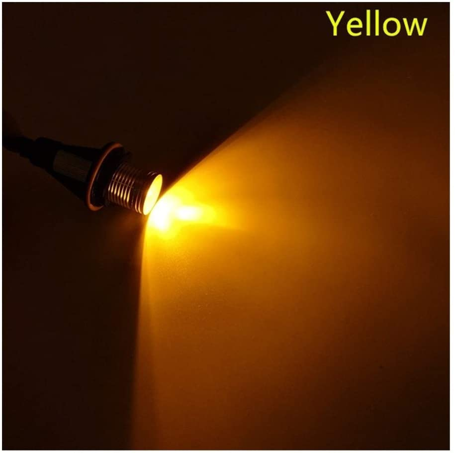 Zhuzhu Car Flashing 2Pcs Fit for BMW E39 E53 E60 E61 E63 E64 E65 E66 E87 525i 530i Xi 545i M5 Error Free LED Marker Lights Bulbs (Color : Yellow)