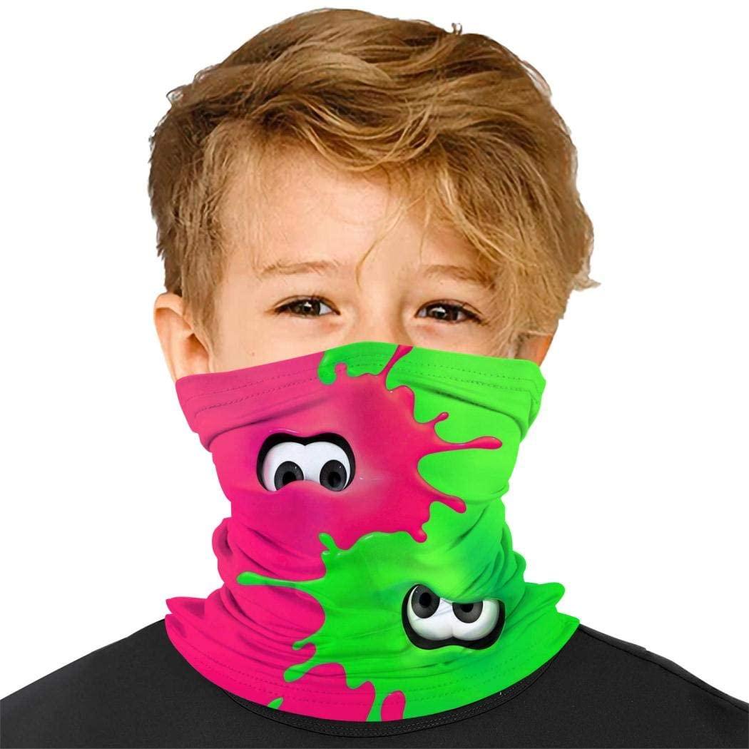 Sp-LAT-oon Kids Bandanas Face Mask Mouth Cloth Cover Balaclavs Tube Headband for Dust Sun Protection