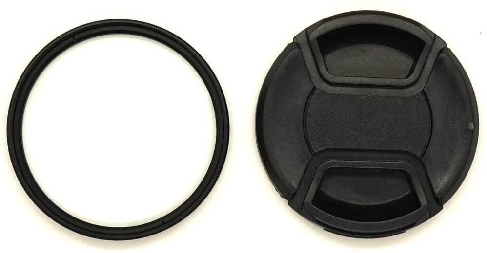WH1916 52mm Glass UV Filter Digital Multi-Coated Slim Frame and 52mm Lens Cap for Nikon AF-S DX NIKKOR 18-55mm / Canon EF-M 55-200mm / Sigma 30mm F1.4 Lens