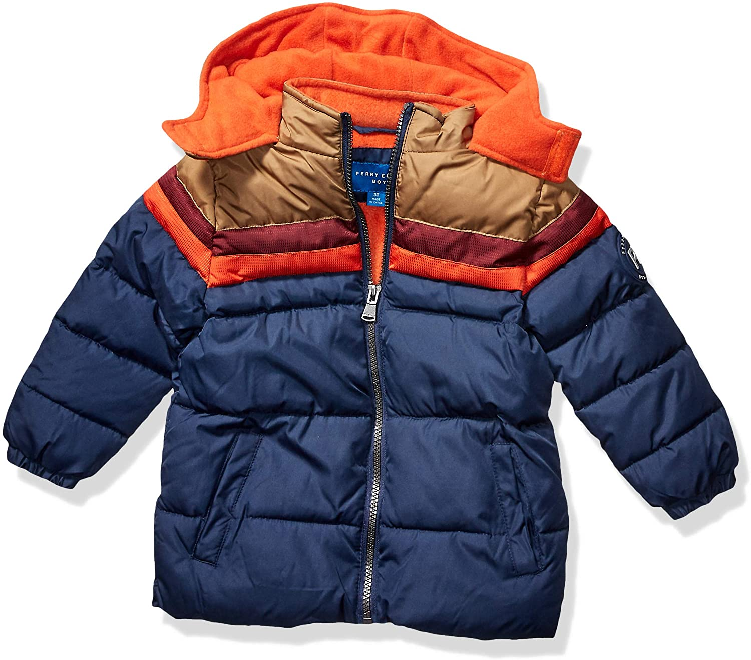 Perry Ellis Boys' Little Colorblock Puffer