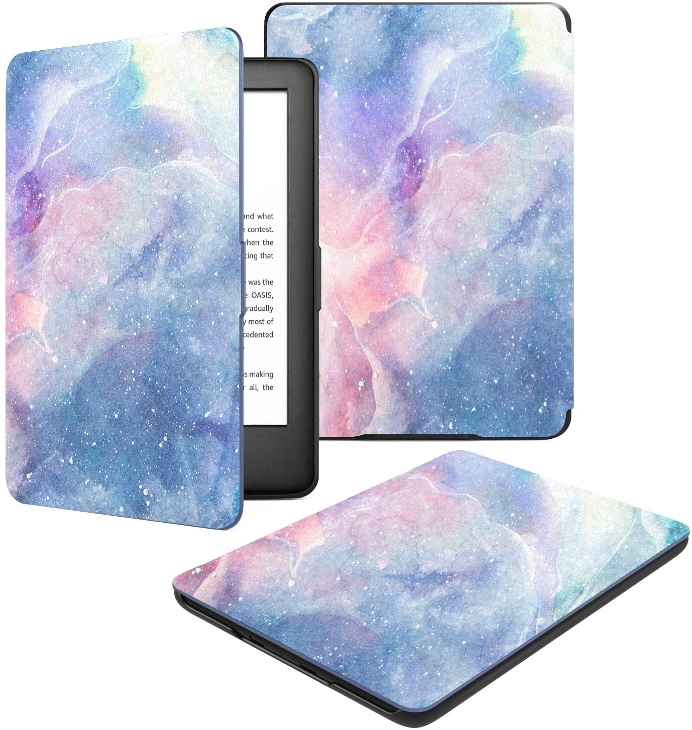 Dadanism Case Compatible with All-New K i n d l e 10th Generation 2019 Releases, Light Thin Shell Tablet Screen Protector Smart Cover and Case with Auto Sleep/Wake for E-Reader 2019 – Dreamy Nebula