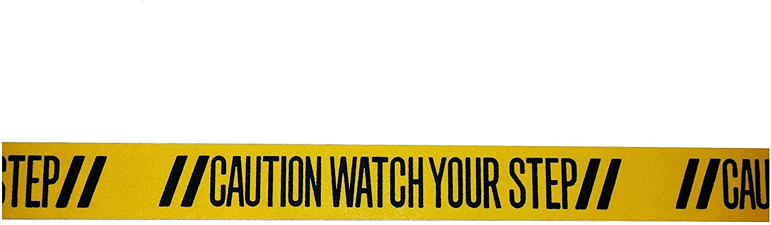 Gator Grip Traction | WATCH YOUR STEP | Anti-Slip Safety Warning Tape | Entry | Steps | 3 Inch x 44 Inch (2 Messages) Stairs