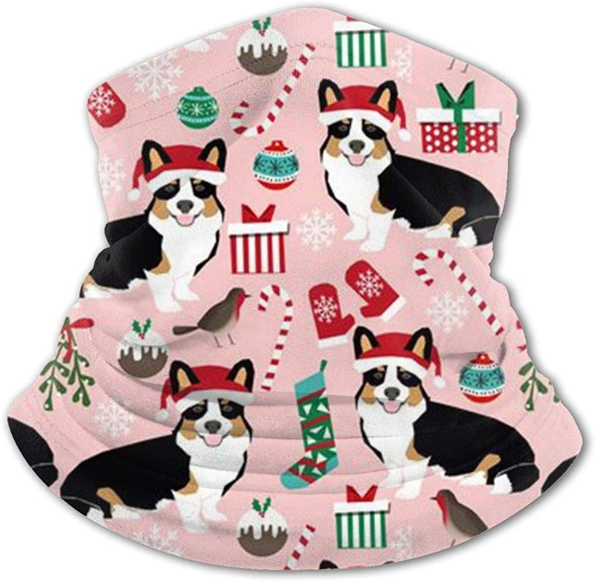 Pet Friendly - Corgi Christmas Headwear For Girls And Boys, Head Wrap, Neck Gaiter, Headband, Tenn Fishing Mask, Magic Scarf, Tube Mask, Face Bandana Mask For Camping Running Cycling