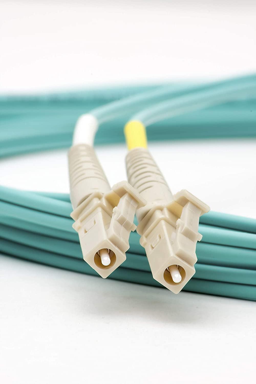SpeedyFiberTX - 1 Meter 10G Multimode OM3 Duplex 50/125 Fiber Patch Cable LC to LC (Aqua Cable)