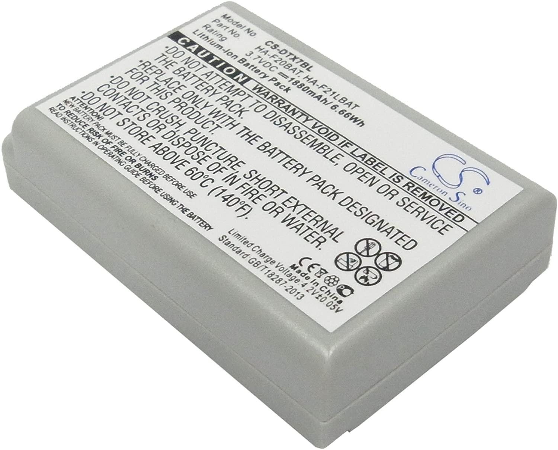 1880mAh Battery Replacement for Casio DT-X7, DT-X7M10E, DT-X7M10R, P/N HA-F21LBAT