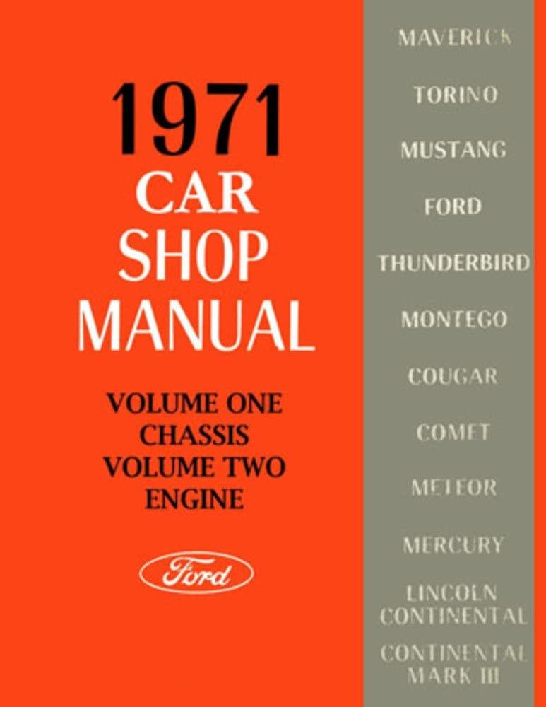 bishko automotive literature 1971 Ford Fairlane Mustang Galaxie Shop Service Repair Manual Book Engine Wiring