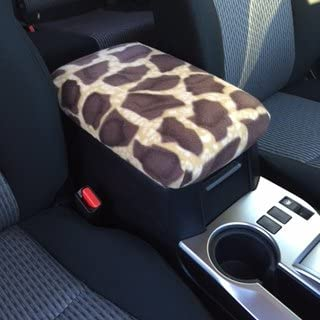 Chevrolet Malibu 2015 Car Auto Center Console Armrest Cover Protects from Dirt and Damage Renews Old Damaged Consoles - Giraffe Print