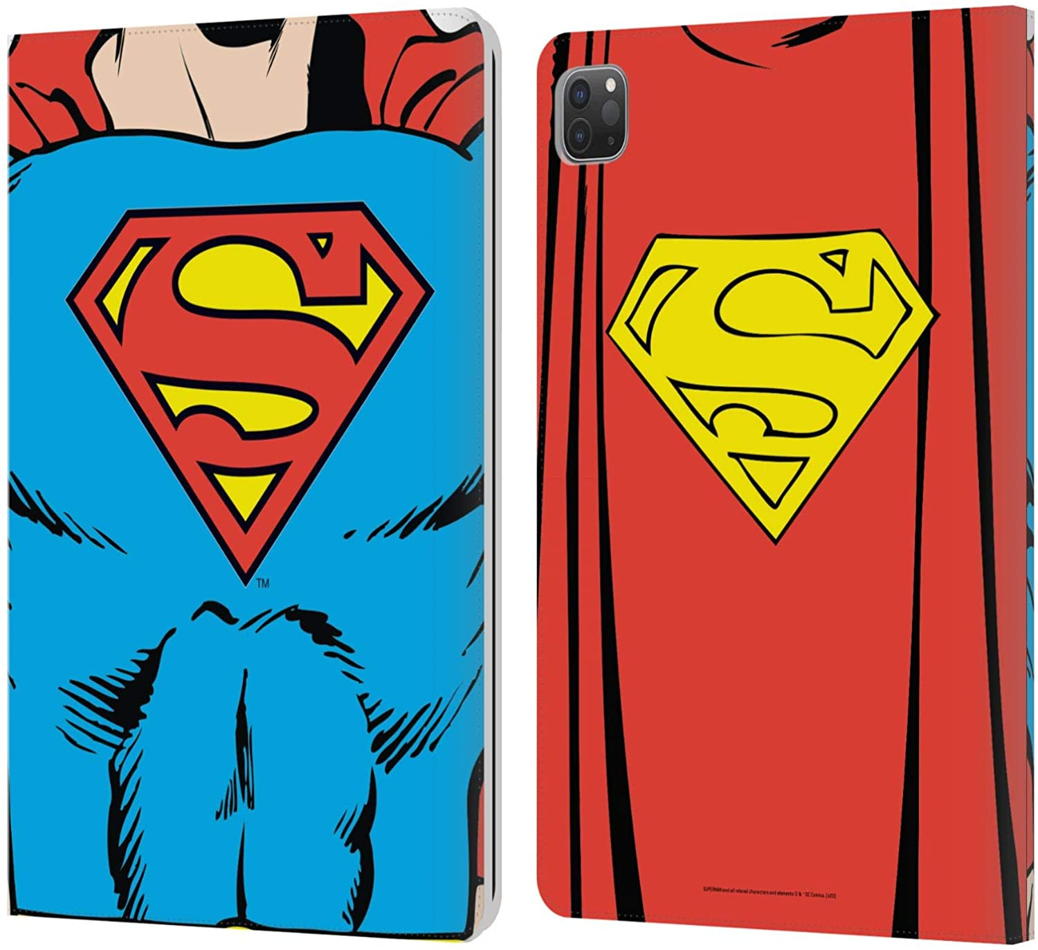 Head Case Designs Officially Licensed Superman DC Comics Classic Costume Logos Leather Book Wallet Case Cover Compatible with Apple iPad Pro 11 (2020)